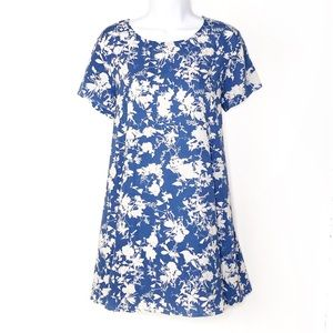 LUSH Blue & White Floral A-Line Dress
